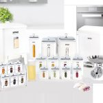 سرویس آشپزخانه 22 پارچه چهارگوش لیمون