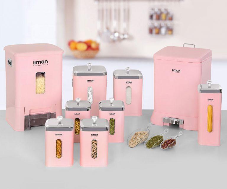 سرویس آشپزخانه 9 پارچه چهارگوش لیمون