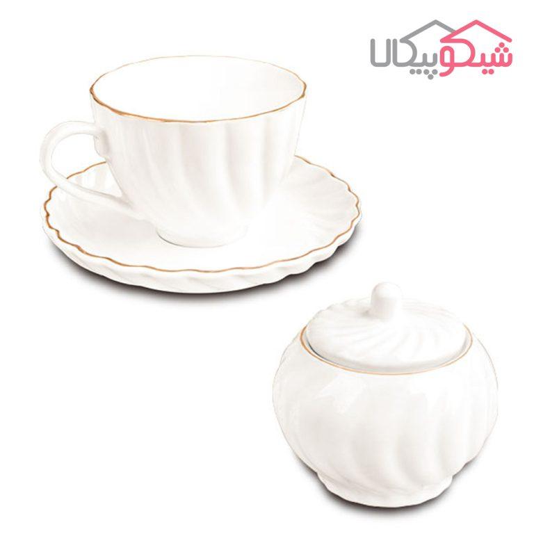 سرویس چای خوری 14 پارچه لمون مدل کارمن